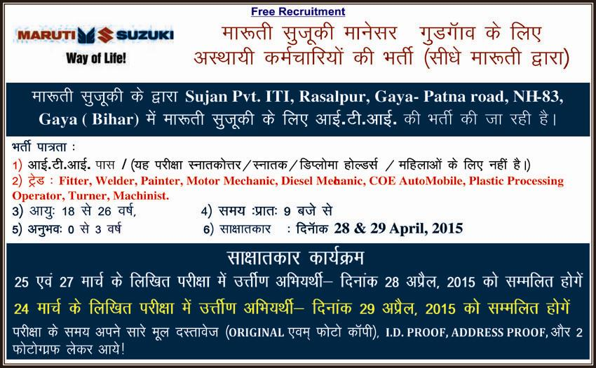 Placements | Sujan Private ITI | ISO Certified ITI in a, Bihar